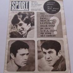Revista SPORT- martie 1971(prezentare STEAUA Bucuresti)