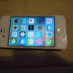 iPhone 4s Apple, liber retea, baterie noua, Alb, 16GB, Neblocat