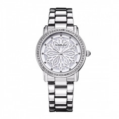 Ceas elegant dama Quartz 2109-2, argintiu - Ceas dama, Fashion, Otel, Analog