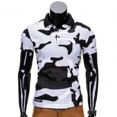 Tricou barbati Army alb S694, Marime: S, M, L, XL, XXL, Culoare: Din imagine, Maneca scurta, Bumbac