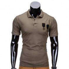 Tricou polo barbati Army Verde inchis S704 - Tricou barbati, Marime: S, M, L, XL, XXL, Culoare: Din imagine, Maneca scurta, Bumbac
