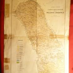 Harta geologica a Moldovei Orientale, autori :Macarovici si I.Atanasiu, RPR
