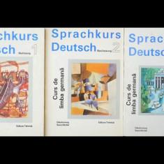 CURS DE LIMBA GERMANĂ - 3 VOLUME - SPRACHKURS DEUTSCH - EDITURA TEHNICĂ, AN 1994 - Curs Limba Germana