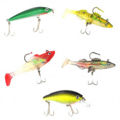 Oferta! Set 5 momeli pescuit Dunlop Predator Lure - Momeala artificiala Pescuit
