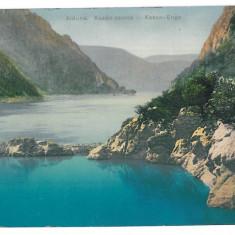 3791 - ORSOVA, Kazan Danube - old postcard - used - 1914 - Carte Postala Oltenia 1904-1918, Circulata, Printata