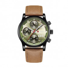 Ceas casual barbatesc Quartz 8207-3, verde verde Curren - Ceas barbatesc