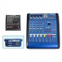 Mixer 4D cu amplificator si putere 200W - Mixere DJ