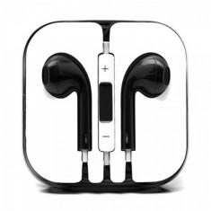 Casti in-ear cu microfon universale, iphone si samsung, negru negru Compatibil