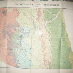 Harta geologica a Regiunii Cheile Bicazului 1919-1934, dim.=61 x 42 cm