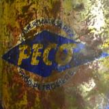 Cutie tabla veche reclama comunista ULEI PECO 4 l