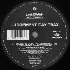 Judgement Day Trax disc vinil Maxi Single 1993, Techno, Hard Trance - Muzica House