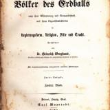 Die volker des erdballs, 1854, in germana, vol 2 - Carte de lux
