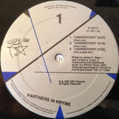 Partners In Kryme - Undercover 1990 disc vinil Maxi Single, Hip Hop - Muzica Hip Hop
