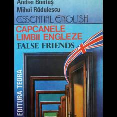 CAPCANELE LIMBII ENGLEZE - FALSE FRIENDS - ANDREI BANTAȘ - EDITURA TEORA AN 1992 - Curs Limba Engleza