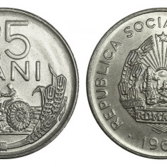 ROMANIA 25 BANI 1966 UNC DIN FISIC, Cupru-Nichel