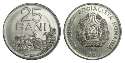 ROMANIA 25 BANI 1966 UNC DIN FISIC foto