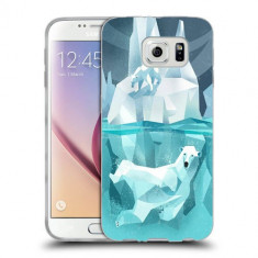 Husa Samsung Galaxy S6 Edge Plus G928 Silicon Gel Tpu Model Polar Bears - Husa Telefon