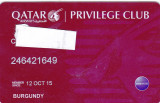 Cumpara ieftin Card plastic membru Qatar Airways Privilage Club