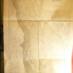 Harta geologica Zona Interna de Flysch - Valea Moldovei si Bistrita, interbelica