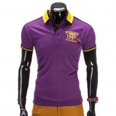 Tricou polo barbati S508 violet NEW MODEL - Tricou barbati, Marime: S, M, Maneca scurta, Bumbac
