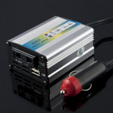 Invertor inverter auto 24v 200W cu port USB tir camion