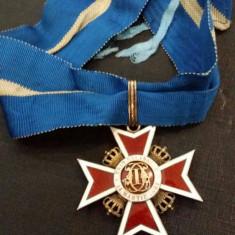 ORDINUL COROANA ROMANIEI CIVIL DE ARGINT MODEL 1939 PERFECTA STARE