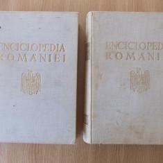 ENCICLOPEDIA ROMANIEI, D. GUSTI, VOL III SI IV- ECONOMIA NATIONALA 1936-1943 - Carte Editie princeps