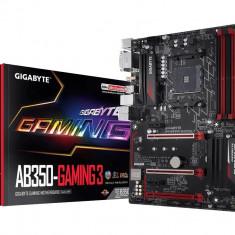 Placa de baza GIGABYTE Socket AM4 (AMD RYZEN™ processor), AB350-GAMING 3, 4*DDR4 3200(O.C.)/2933(O.C.)/2667/2400/2133 MHz, HDMI/DVI-D, 3 bulk, ATX
