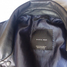 Jacheta Zara / Biker jacket / Geaca zara - Jacheta barbati, Marime: M, Culoare: Negru