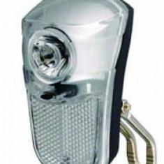 Far elegant pentru bicicleta - cu 2 LED-uri albe si catadioptru - Accesoriu Bicicleta, Faruri si semnalizatoare