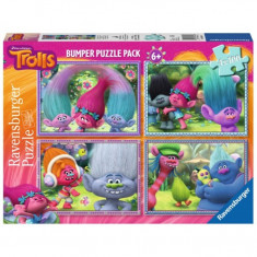 Puzzle Trolls, 4x100 piese Ravensburger