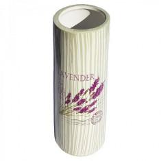 Vaza de flori cilindrica Buchet de Lavanda, 25 cm - Vaza si suport flori