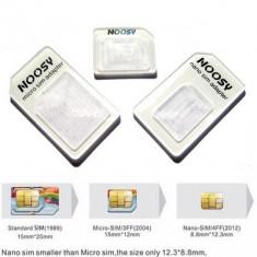 Adapter cartela Nano, Micro Sim - Noosy - Adaptor microsim Oem
