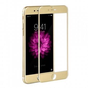 Folie protectie sticla securizata 3D ecran Apple iPhone 6 Plus GOLD