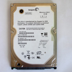 HDD 60g seagate sata fara defecte se vinde in mod de licitatie ( Mokazie ) - HDD laptop Seagate, 41-80 GB, Rotatii: 5400, 8 MB