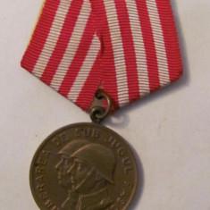 CY - Medalie RPR Eliberarea de sub Jugul Fascist / In Slujba Poporului Muncitor - Decoratie
