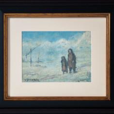 IOSIF STEURER -IARNA - Pictor roman, Peisaje, Ulei, Altul