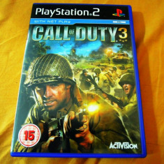 Joc Call of Duty 3, PS2, original, alte sute de jocuri! - Jocuri PS2 Activision, Shooting, 16+, Single player