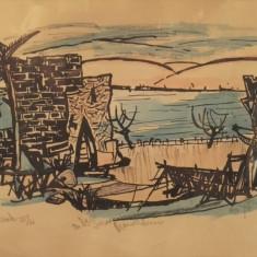"Marcel Iancu - ""Tiberiade"" nr. 25 - Litografie"