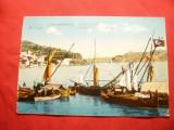 Ilustrata -Constantinopole - Barci la intrarea in Marea Neagra ,inc.sec.XX, Necirculata, Printata