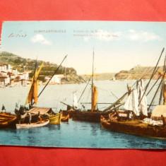 Ilustrata -Constantinopole - Barci la intrarea in Marea Neagra ,inc.sec.XX