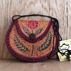 Mini borseta, portmoneu din piele de dimensiuni mici 9x7 cm #334