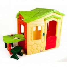 Casuta picnic cu terasa culoare crem Little Tikes - Casuta copii