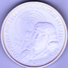 Moneda medalion Meissen, Thaler Nikolaus Kopernikus 1993 cu cutie originala