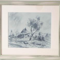 IOSIF STEURER -PEISAJ - Pictor roman, Peisaje, Carbune, Altul