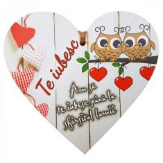 Tablita Te iubesc, din lemn - Jocuri Litere si Cifre