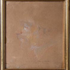 MARIA CIURDEA STEURER -PORTRETUL SOTULUI (IOSIF STEURER) - Pictor roman, Portrete, Acuarela, Altul