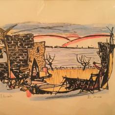 "Marcel Iancu ""Tiberiade"" - Litografie"