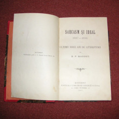 B. H. Hasdeu - Sarcasm si ideal - 1897 - Carte Editie princeps