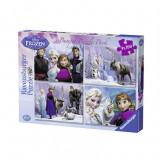 Puzzle Frozen, 4x100 piese Ravensburger